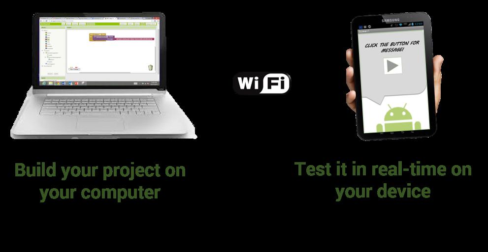 Test en temps réel sur le téléphone avec App Inventor