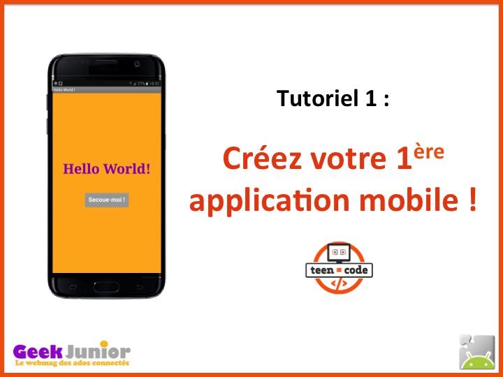 Créez votre 1ère application mobile !