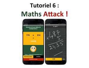 Tuto créez une application mobile Maths Attack !