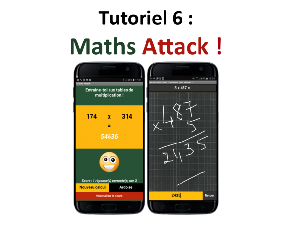 Appli mobile Maths Attack