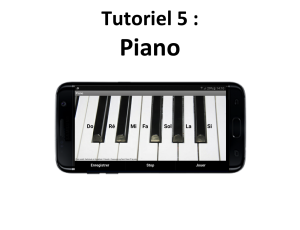 Tuto créez une application mobile Piano