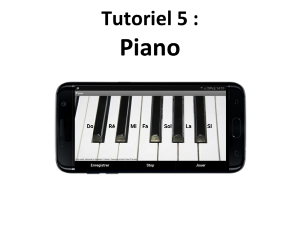 Appli mobile Piano