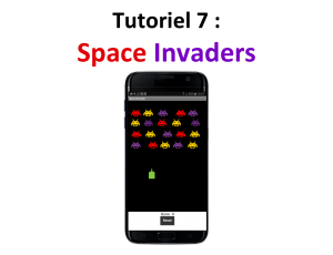 Tuto créez une application mobile Space Invaders