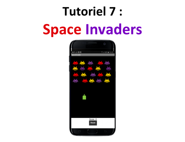 Appli mobile Space Invaders