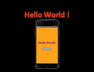 Tuto Hello World créez votre première application mobile