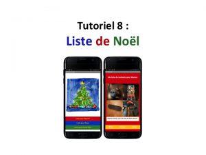 Tuto créez une application mobile Liste de Noël