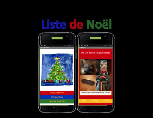 Appli mobile Liste de Noël