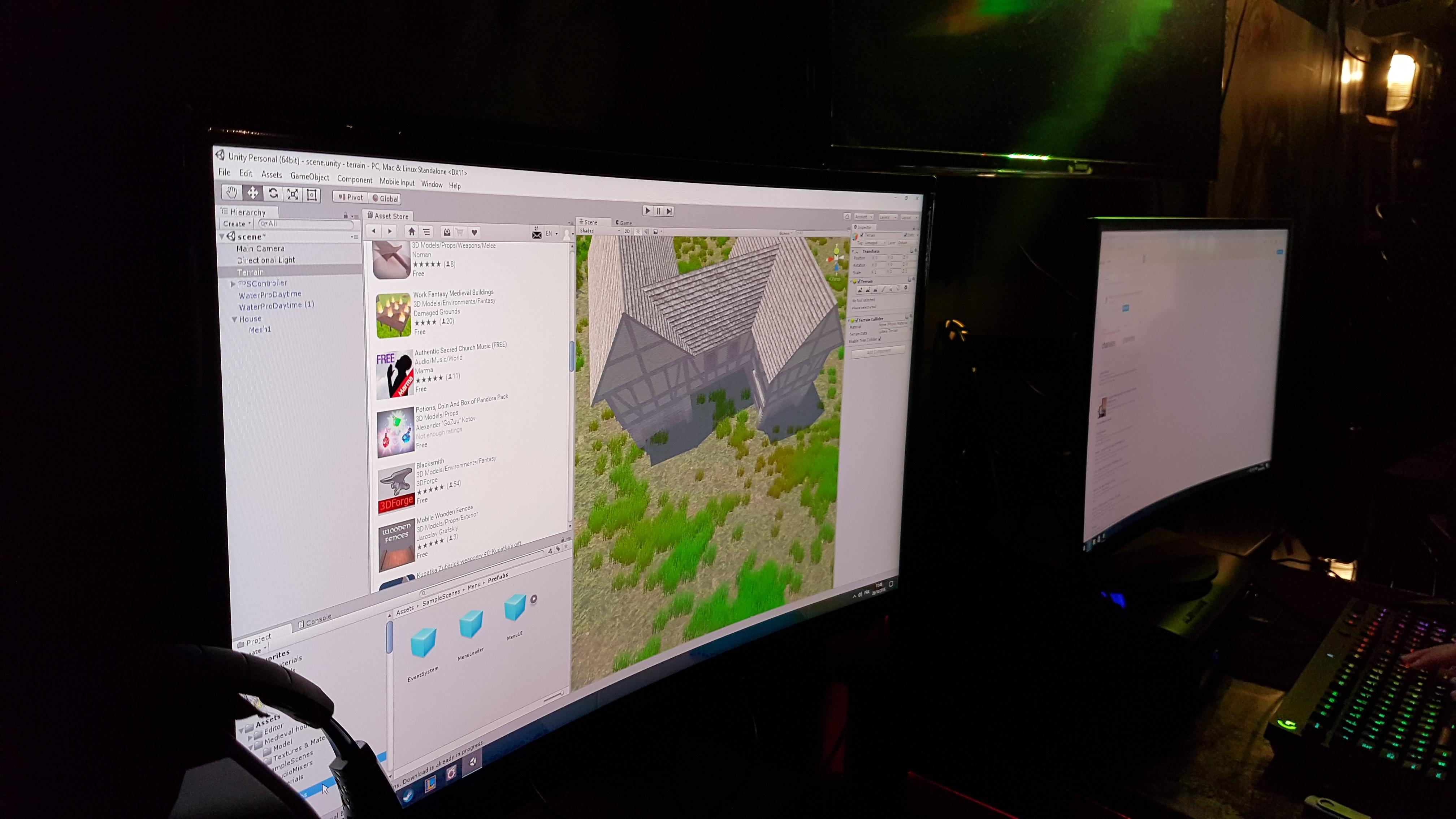 Création d'une cabane en 3D sur Unity