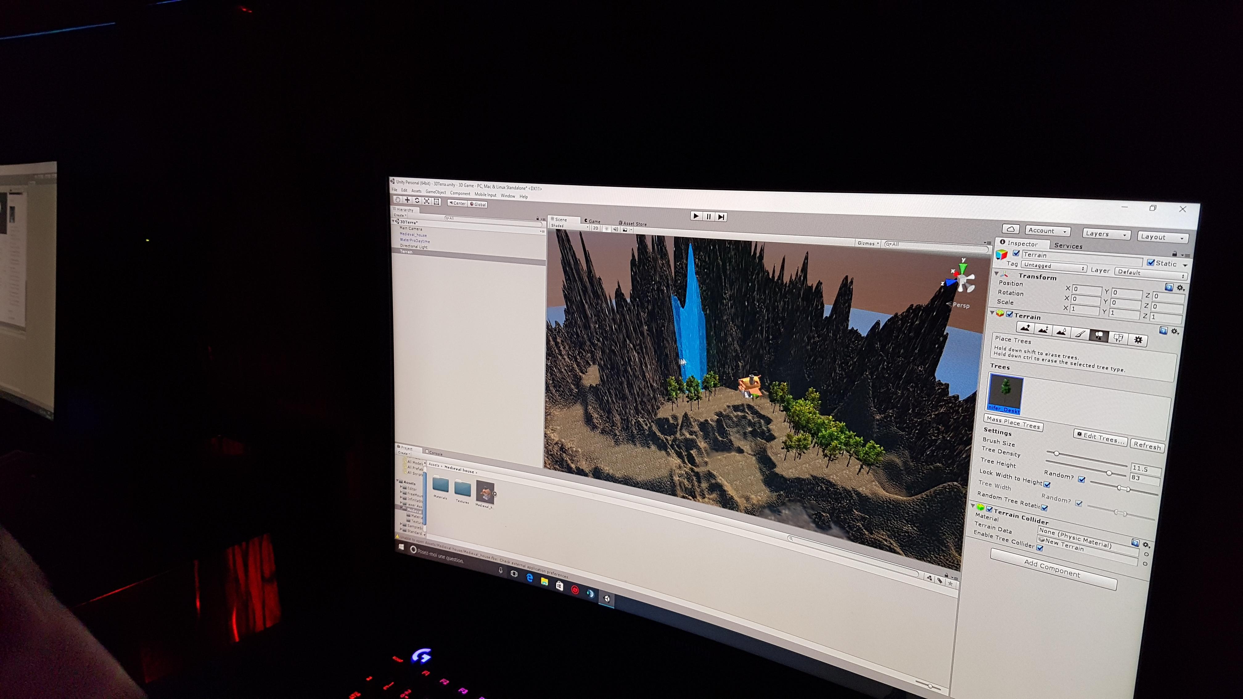 Création de montagnes en 3D sur Unity