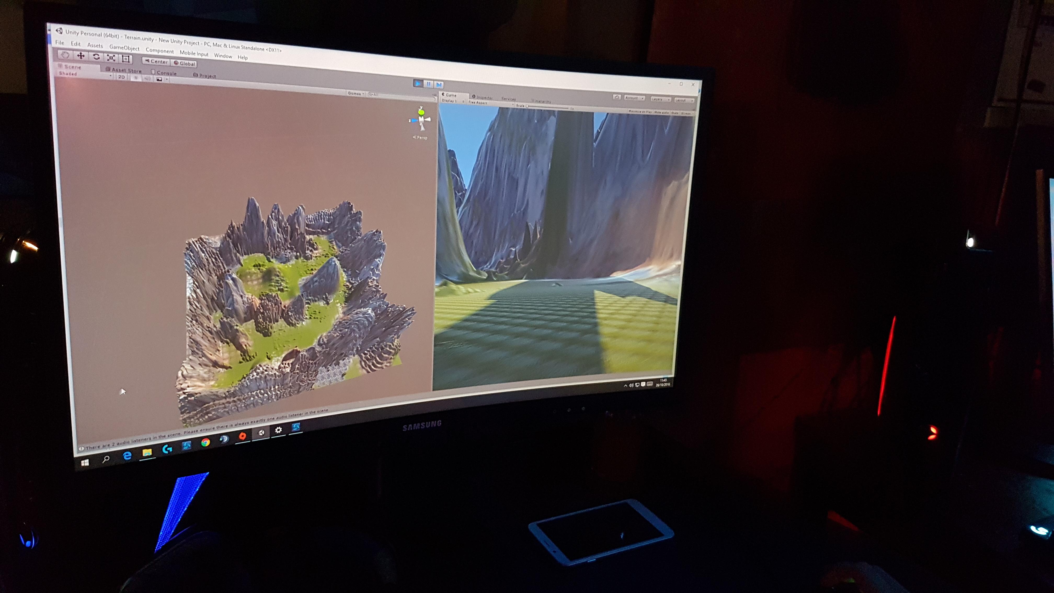 Création d'une vallée en 3D sur Unity