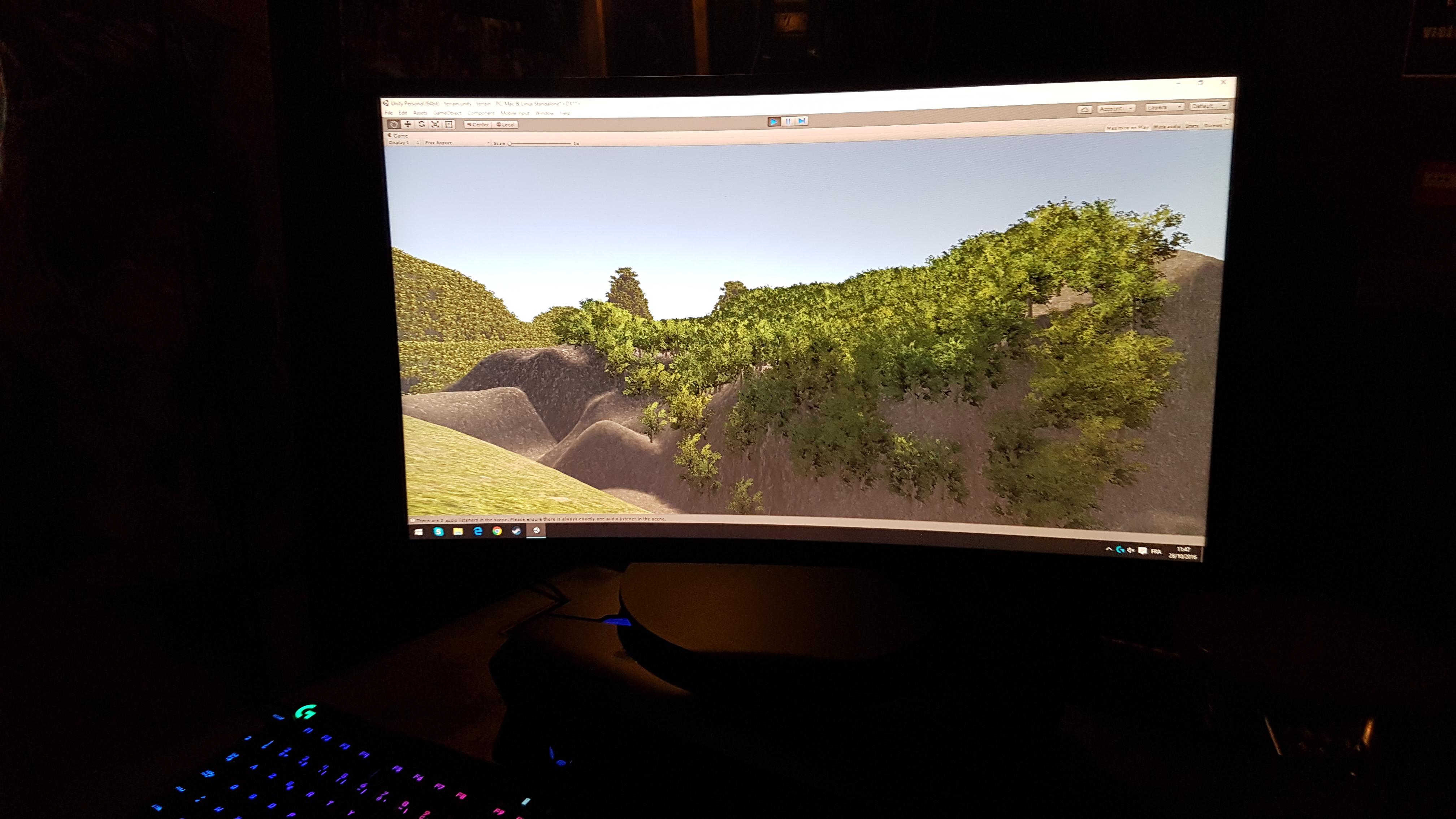 Création d'une forêt en 3D sur Unity