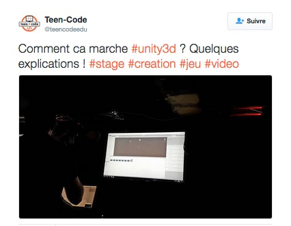 Stage Teen-Code Unity - Toussaint 2016