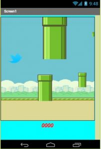 Appli Flappy Bird Beta, par Firas - Stage Teen-Code