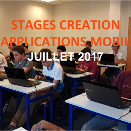Stages Création d'applications mobiles – Juillet 2017