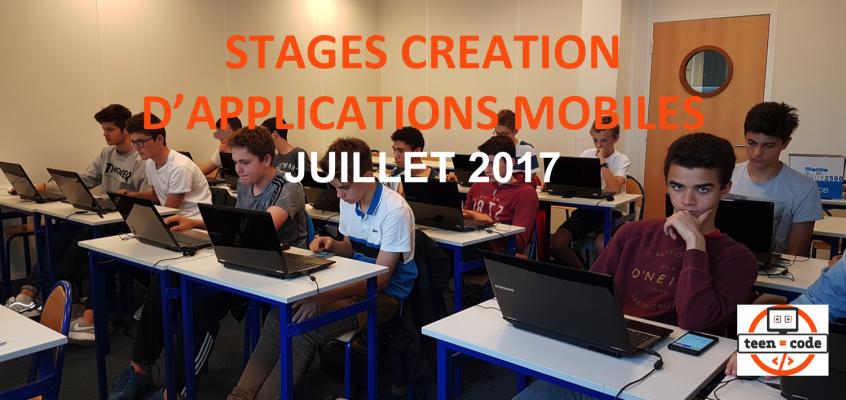 Stages Création d'applications mobiles – Juillet 2017