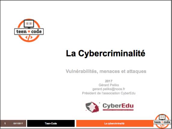 Conférence Cybercriminalité : vulnérabilités, menaces et attaques