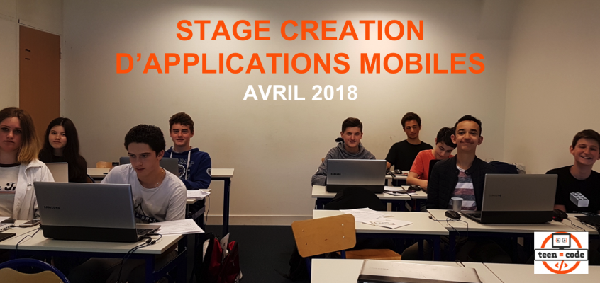 Stage Création d'applications mobiles – Avril 2018