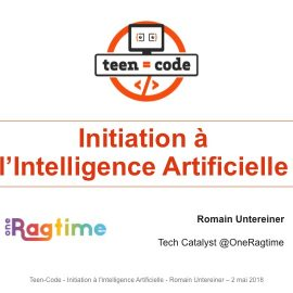 Conférence Intelligence Artificielle Teen-Code